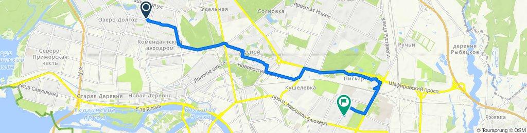 От проспект Сизова 28, Санкт-Петербург до Замшина улица 29, Санкт-Петербург