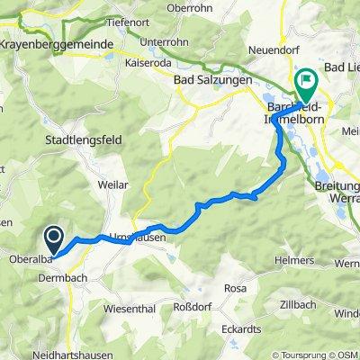 Dermbach nach Barchfeld