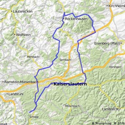 Krickenbach - Kaiserslautern City - Hochspeyer - Enkenbach - Spirkelbach - Donnersberg - Rockenhausen - Höringer Tal - Otterbach - Otterberg - Erfenbach - KL We