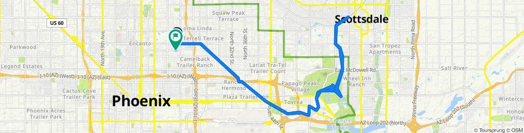 1505 E Thomas Rd, Phoenix to 1427 E Virginia Ave, Phoenix
