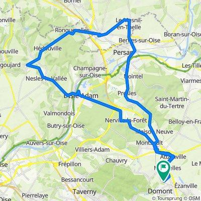 De 5 Residence les Longues Raies, Domont à Chemin des Marais, Domont