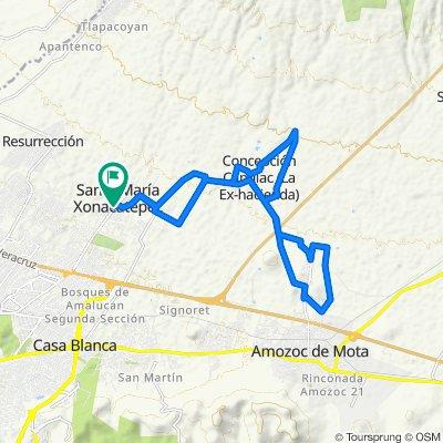 De Cristóbal Colón 16, Santa María Xonacatepec a Cristóbal Colón 16, Santa María Xonacatepec