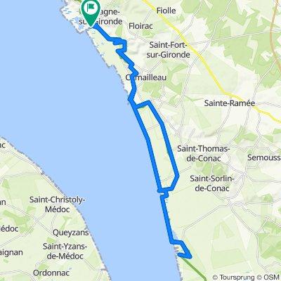 Itinéraire vers Quai de l'Estuaire 36, Mortagne-sur-Gironde