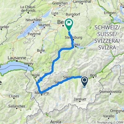 Grächen - Gstaad - Münsingen