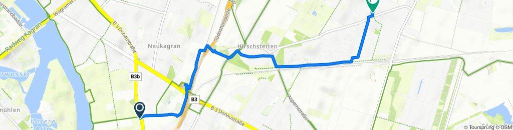 Lange Allee 16/17, Wien nach Quadenstraße 65-67, Wien