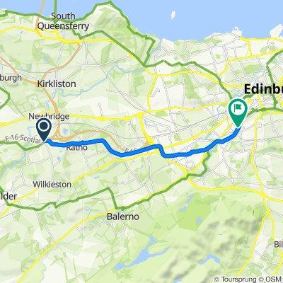 Moderate route in Edinburgh