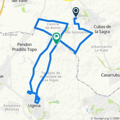 De Calle Entrebosques 8, Cubas de la Sagra a Calle Frambueso 55, Ugena