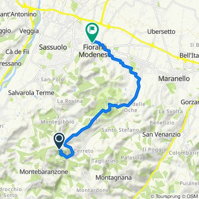 Da Via Nuova 6000, Montebaranzone a Circondariale San Francesco 131, Fiorano Modenese