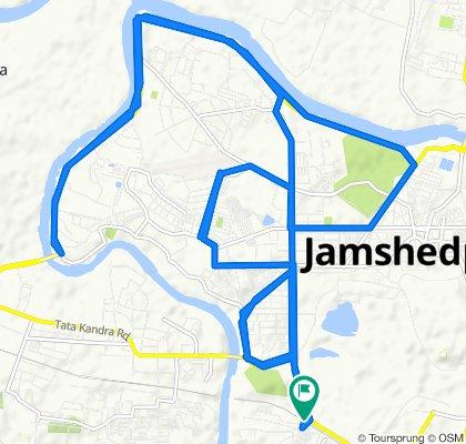 Tata - Hata Main Road, Jamshedpur to Jugsalai Golchakkar Bus Stop, Jamshedpur