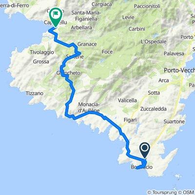 Corse Etape 4 - Bonifaccio à Propriano - 73,2km 1010D+