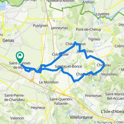 De 9 Chemin de la Motte, Saint-Bonnet-de-Mure à 2 Chemin du Chanay, Saint-Bonnet-de-Mure