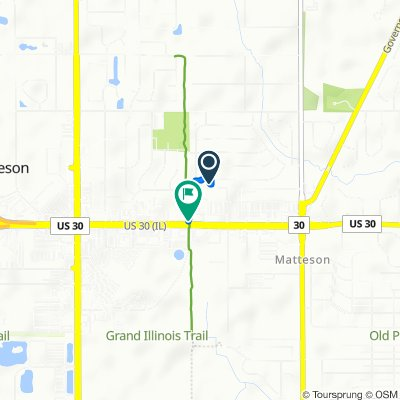 4315 Lindenwood Dr, Matteson to 4400–4440 Lincoln Hwy, Matteson