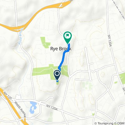 Route to 202 N Ridge St, Rye Brook