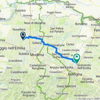 Da Piazzale Aldo Moro 1, Correggio a Via Gramsci 169, Castel Maggiore