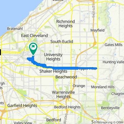 2183 N St James Pkwy, Cleveland Heights to 2183 N St James Pkwy, Cleveland Heights