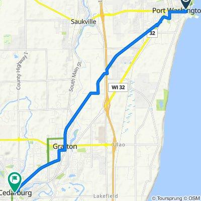 Restful route in Cedarburg