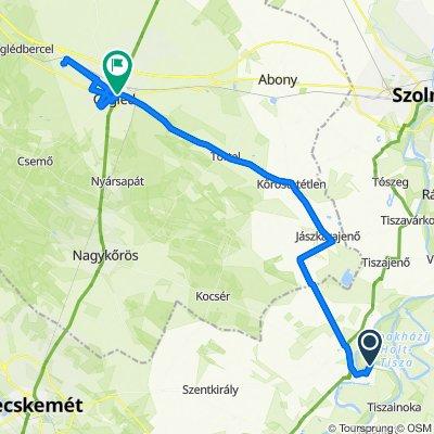 Route to Köztársaság utca 12., Cegléd