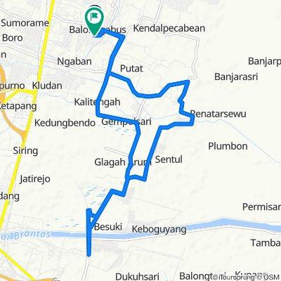 Jalan Maritim 20, Kecamatan Candi to Balonggabus, Kecamatan Candi