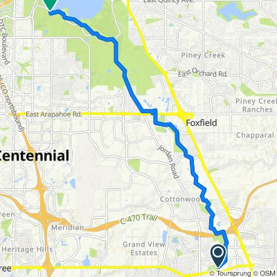 to Cherry Creek Reservoir