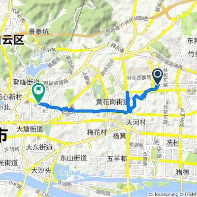 Linhe West Cross Road, Guangzhou to No.317 Huanshi Middle Road, Guangzhou