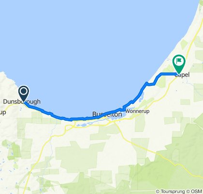 Geographe Bay Road, Dunsborough to Stirling Road, Capel