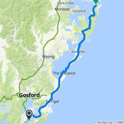 1 Ferry Road, Brisbane Water to 40–46 Josephson Street, Swansea