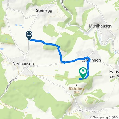 Route von Sankt Wendelberg, Neuhausen im Enzkreis