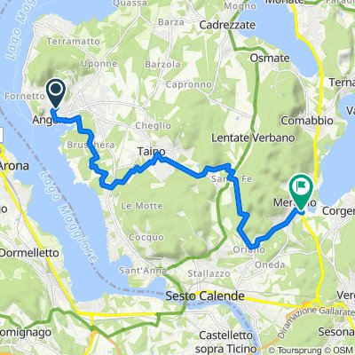 Angera to Lago Comabbio 15Kms