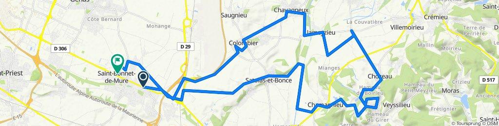 De 46 Avenue Jean Moulin, Saint-Laurent-de-Mure à 9 Chemin de la Motte, Saint-Bonnet-de-Mure