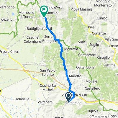Regione Palazzasso 37 nach Via Guglielmo Marconi 53, Castelnuovo Don Bosco