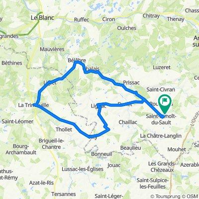 De 66 Route d'Argenton, Saint-Benoît-du-Sault à 64 Route d'Argenton, Saint-Benoît-du-Sault