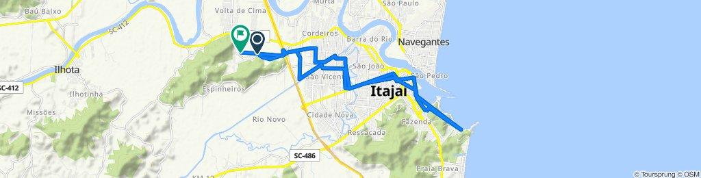 Rota desde Rua Fermino Vieira Cordeiro, 1376, Itajaí