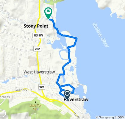 Route to 37 Tomkins Ave, Stony Point