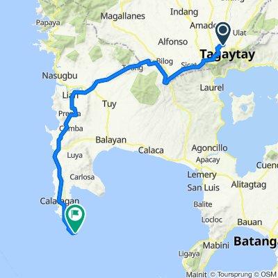 Tagaytay to Calatagan