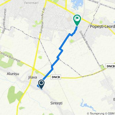 Strada Ungureni 161, Jilava to Strada Turnu Măgurele 3, București