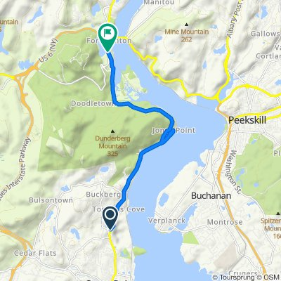 6 Skinner Ct, Tomkins Cove to US-9W, Tomkins Cove