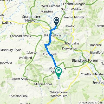 Malabar House, Rectory Lane, Blandford Forum to 75–91 Clenston Road, Winterborne Clenston, Blandford Forum