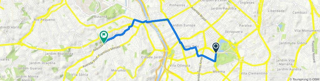 De Avenida República do Líbano 832 a Avenida Eliseu de Almeida 1800