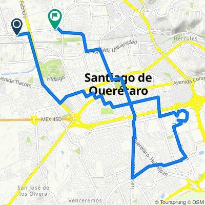 De San Diego 405, Santiago de Querétaro a Salvador Díaz Mirón 4, Santiago de Querétaro