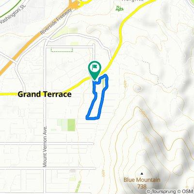 12018 Preston St, Grand Terrace to 12013 Preston St, Grand Terrace