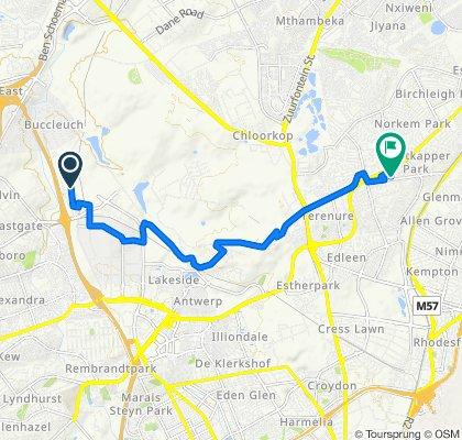 15–17 Milkyway Avenue, Sandton to 44 Lorraine Street, Kempton Park