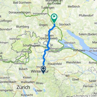 Schwalbenweg 14, Winterthur nach Hinterdorfstraße 44, Eigeltingen
