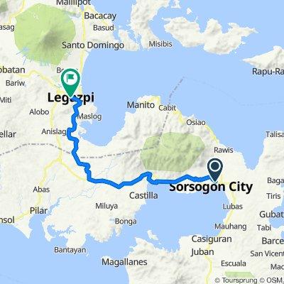 Route to Rizal Street, Legazpi City