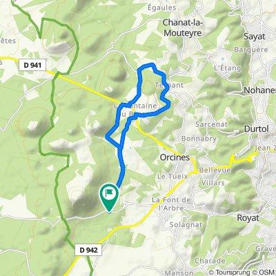 Itinéraire vers Col de Ceyssat, Orcines