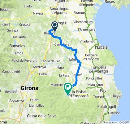 High-speed route in Cruïlles, Monells i Sant Sadurní de l'Heura