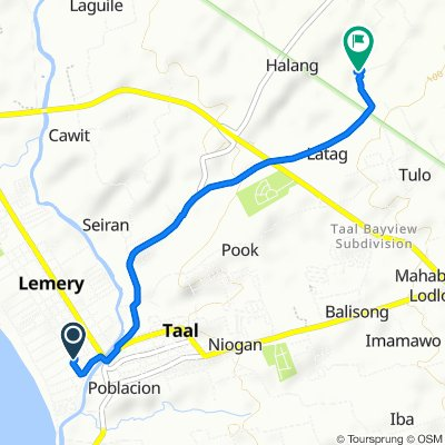 Relaxed route in Taal