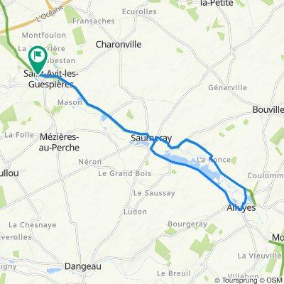 5 Le Moulin Neuf, Saint-Avit-les-Guespières to 5 Le Moulin Neuf, Saint-Avit-les-Guespières