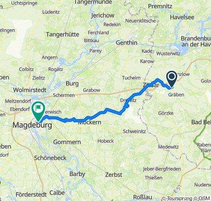 Route nach Breitscheidstraße 21, Magdeburg