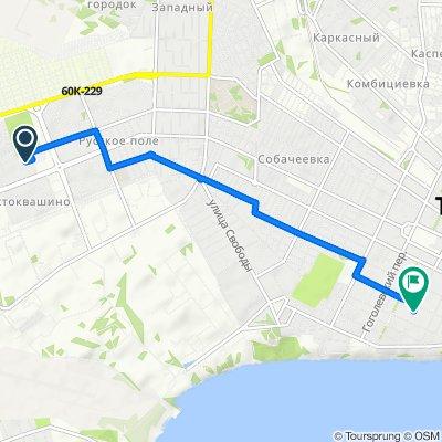 От улица Сергея Шило, 257/1, Таганрог до Красный переулок, 81, Таганрог
