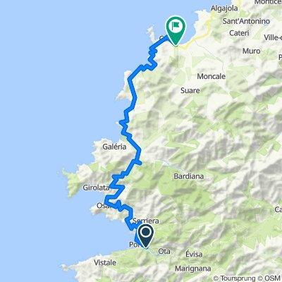 Corse Etape 7 - Porto à Calvi - 77,9km 1180D+